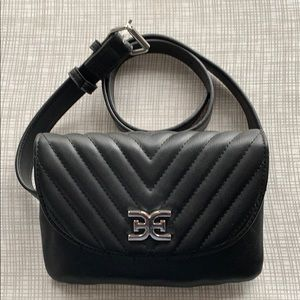 Sam Edelman Belt Purse - Black & Silver NWT